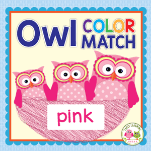 owl color match and size sorting activity for preschool and pre-k