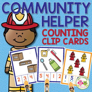community helper counting activity