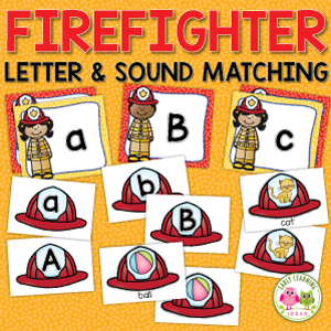 firefighter alphabet and sound sort