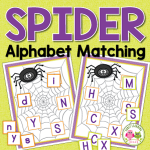 spider alphabet matching activity