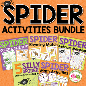 spider activity bundle for preschool and pre-k