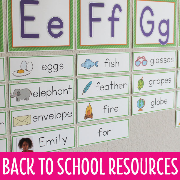 word wall ideas for preschool and pre-k