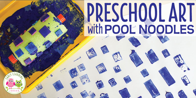 Easy Art for Kids:  Painting with Pool Noodles
