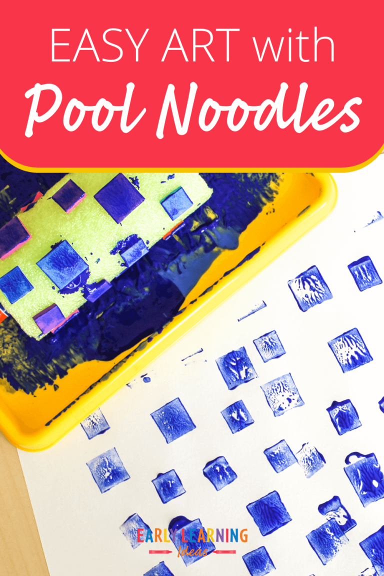 Easy Art for Kids:  How to Paint with Pool Noodles