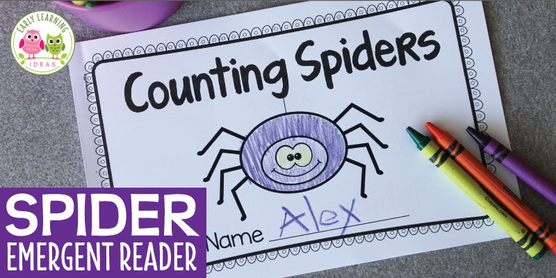 Printable Spider Emergent Reader
