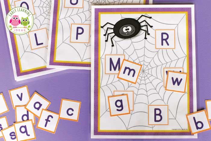 spider alphabet activities for preschool and pre-k