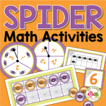 spider math activities for preschool and kidnergarten