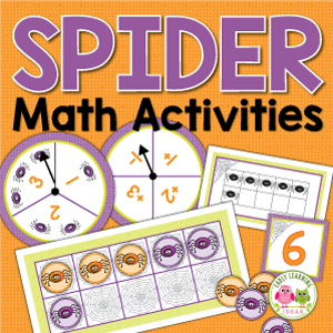 spider math activities for preschool and kindergarten
