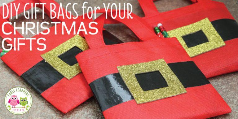 Christmas Gift Bags for Kids: Make DIY Santa Bags