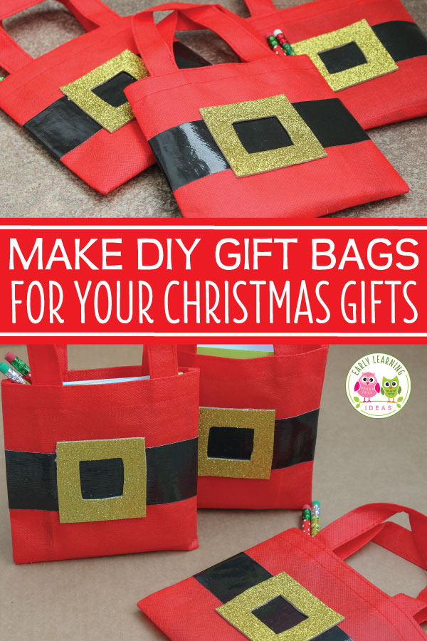 check out these fun easy to make diy christmas gift bags that you can make for