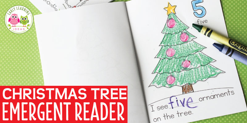 This Christmas tree printable counting book is a quick and easy idea for your Christmas theme or Christmas tree theme unit or lesson plans in your preschool or pre-k classroom. Better than crafts or worksheets, your kids can complete the little counting book to take home. These books are perfect for your literacy, math, or writing centers. Kids will have fun counting the ornaments and they can write the number or print the number word. #preschool #prek #christmasactivitiesforkids