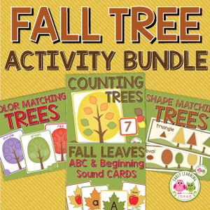 fall tree activities bundle
