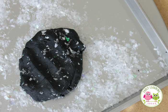 Mix-ins for black playdough