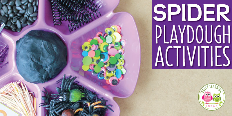 Spider Playdough Activities:  An Invitation to Play