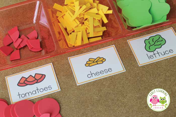 Check out all of these taco shop dramatic play ideas. Transform your dramatic play area into a taco restaurant or taco truck. This is perfect for your dramatic play center your preschool or pre-k classroom. You will have fun with these DIY ideas for making food, props, and decor and will be able to set up your taco restaurant in no time. There are plenty of developmentally appropriate (DAP), hands-on learning opportunities. You will love the literacy ideas! #preschool #prek #dramaticplay