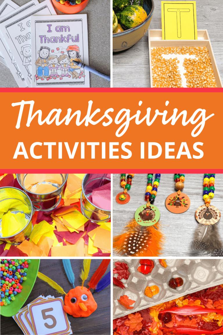 The Best Thanksgiving Activities for Preschoolers
