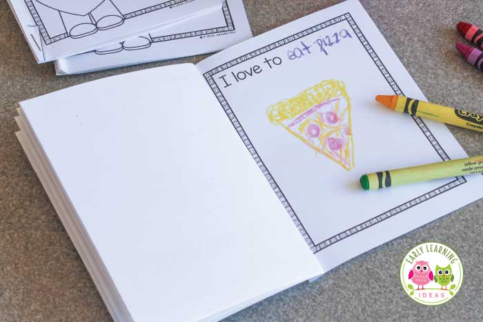 You are going to love this sweet valentines day printable for kids. Are you looking for Valentine theme activities for your literacy centers in your preschool, pre-k or kindergarten classroom? This free printable emergent reader has coloring pages, simple easy-to-read text, a blank page, and a writing practice page featuring the sight word love. Perfect for your February lesson plans. #preschool #kindergarten #valentinesdayactivities #emergentreader