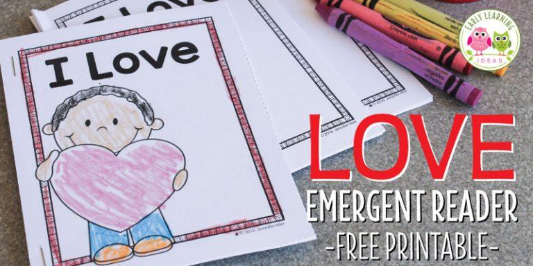 Free Valentine's Day Printable Emergent Reader
