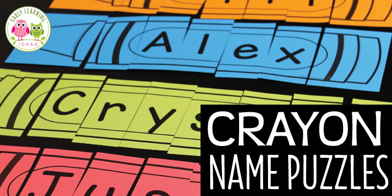 Use these fun editable crayon name puzzles to work on name recognition and a variety of literacy activities with your kids. Your class will love these personalized printable puzzles. Use them in your preschool, pre-k and kindergarten class to work on name recognition, alphabet knowledge, letter recognition and learning a variety of pre-literacy skills. Perfect for your literacy centers. #preschool #nameactivities #alphabetactivities