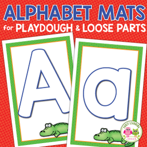 Alphabet Playdough Mats for Playdough and Loose Parts