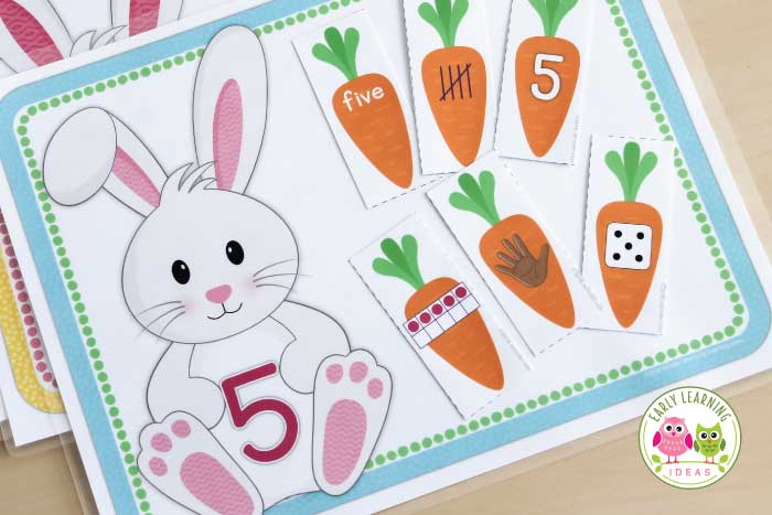 From learning activities to crafts, find many fun bunny activities for your kids. Ideas are perfect for your Easter theme or spring theme unit and lesson plans in preschool and pre-k. Find math activities, literacy activities, fine motor activities, sorting activities, book ideas, etc. Your kids will have so much fun with these Easter activities...including some free printables. Get out your pom-poms and check out these Bunny themed ideas. #preschool #preschooleaster #springactivities
