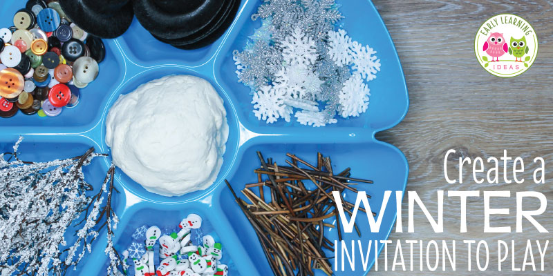 It's easy to put together a winter playdough tray that your kids will love.  Check out all of these fun material ideas. Perfect for working on fine motor skills in your preschool or pre-k classroom. Kids can build a snowman, a snowflake, a snowy scene or a wintery sculpture. They will love the open-ended creativity that this invitation to play provides. Perfect for your snow theme, snowman theme, or winter theme unit or lesson plans #playdough # #wintertheme