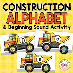 construction theme letter and beginning sound activity