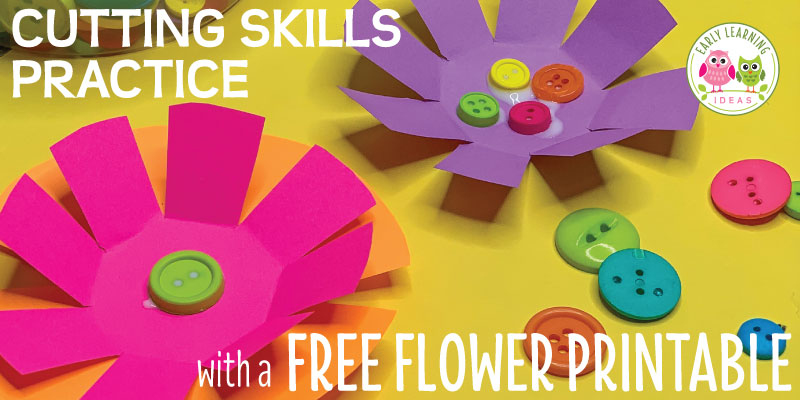 Kids will love these free flower theme printables. The flower activities will help them improve their cutting skills. These fun art activities ideas are a great addition to your flower theme, garden theme, or spring theme unit or lesson plans in your preschool, pre-k or kindergarten classroom. Better than worksheets, these flower templates are perfect for building scissor skills. Ideas for open-ended creation...more than a craft project and perfect for bulletin boards #finemotor #preschool