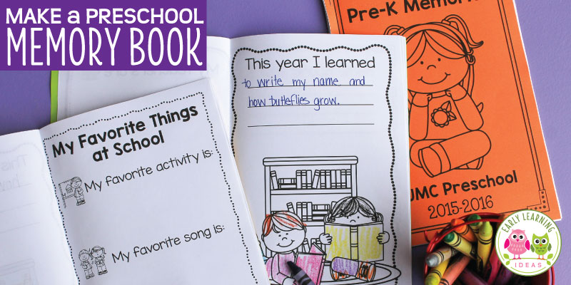 How to Make a Preschool Memory Book: a Perfect End of Year Activity ...