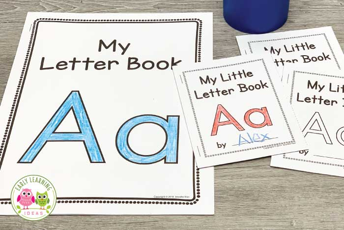 These easy-to-assemble little alphabet letter books will give your kids a variety of ways to learn letter recognition, letter sounds, and letter formation. Whether you use a letter of the week or no letter of the week, kids love taking these little ABC books home. The simple, predictable text gives kids the opportunity to experience success with reading and starting dots help kids practice correct letter formation. Download your free sample book today. #alphabetactivities #preschool