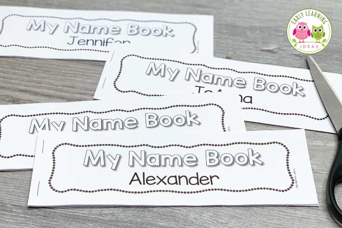 These name books are easy to customize for your preschool, pre-k, or kindergarten classroom., or for an at-home name project.