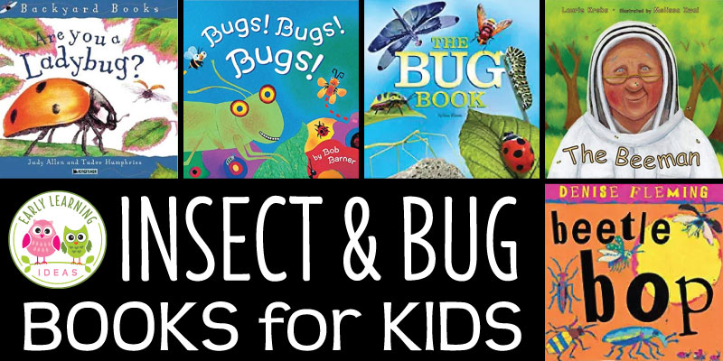 Here are some of the best bug and insect books for your kids. Your kids will love these selections.  Use them in your class library, in your science area or at circle time.  Butterflies, bees, caterpillars, beetles, ladybugs, and more.  These books are a great addition to your bugs and insects theme, butterfly theme, outdoor theme, or camping theme unit and lesson plans in your preschool and pre-k classroom.  Learn fun facts about insects, life cycles and honey bees.  #preschool #prek