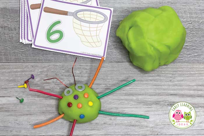 Use playdough for hands-on math and counting activities