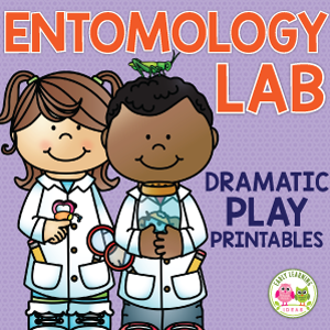 insect research, bug research or entomology lab pretend play printables