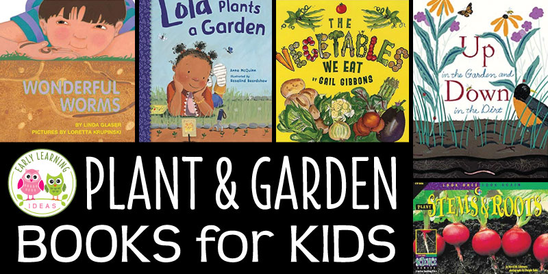 Find the best plant, seed, and garden books for preschoolers. These favorites will be great additions to your classroom library and perfect for your plant theme, garden theme, or spring theme unit and lesson plans. Use the childrens books at circle time, or on your science table. Kids will have fun learning about vegetables, flowers, science and plant life cycles. #preschool #planttheme #gardentheme #prek