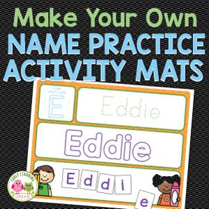 name activity mats