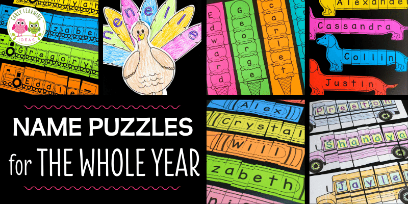 Make Custom Printable Name Puzzles For The Whole Year - Early Learning Ideas