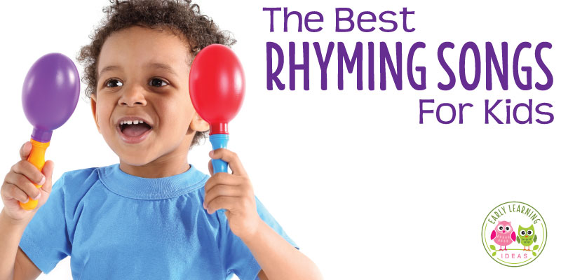 Kids love these fun preschool rhyming songs. Perfect for circle time & transitions, these songs will help your kids hear and produce rhyming words. Singing is such a fun way to learn phonological awareness and should be a big part of your early literacy curriculum. These kids songs will have kids laughing, dancing, and doing fingerplays. They won't even know that you are teaching them how to rhyme. Check out this list for great ideas and new songs for your story time. #preschool #rhyming