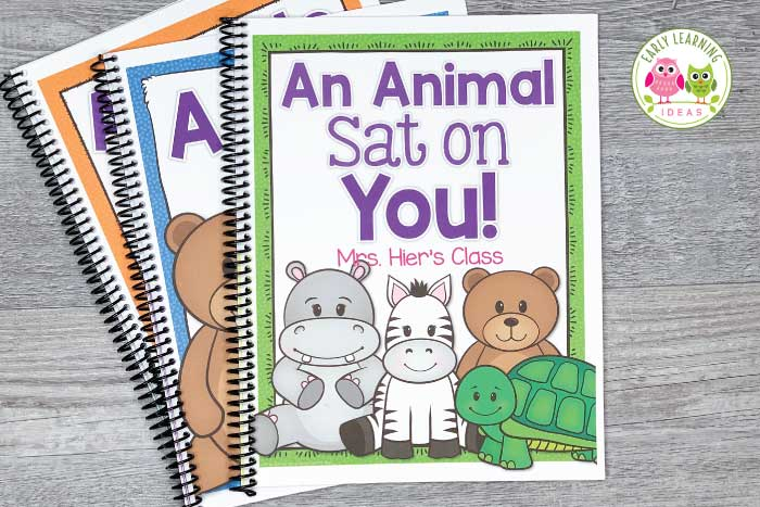 These silly rhyming books for preschoolers feature your kids' names and pictures. Your kids will beg to read these fun lift-the-flap books over and over. Share the class books during circle time or add them to your class library. Teach kids rhyming, phonological awareness, & literacy skills as they learn to recognize rhymes, & produce rhymes. The editable printables are easy to customize and assemble. Ideas for extension activities are included. #preschool #rhymingactivities #classbooks