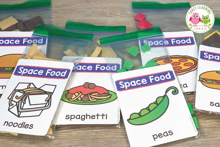 Find lots of ideas to create a DIY space dramatic play area. Your kids will have fun as they learn about space and pretend. Perfect for your preschool, prek or kindergarten classroom to incorporate science, math, and literacy learning in a fun play-based way. Printables will help you create control panels for a space station, rocket, or mission control in no time. Create a night sky and observatory and an astronaut training area. Set up a space station today. #preschoolscience #dramaticplay