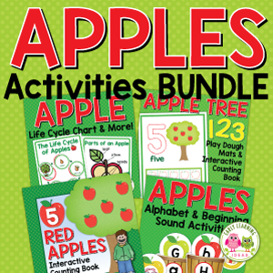 apple activity bundle for preschool