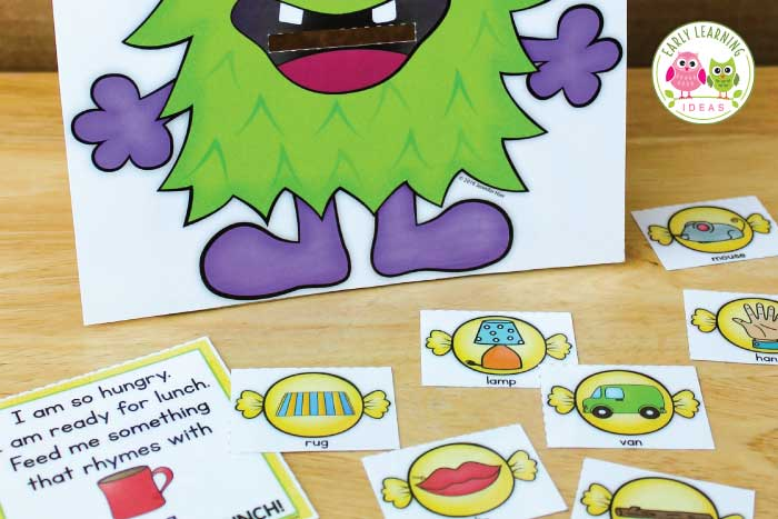 Try out these fun monster activities for preschool. Teach letters, sounds, rhymes, colors and shapes with this cute printable set...perfect for your #Halloween theme. unit and lesson plans or any time of year. Use in your #preschool #prek or #kindergarten classroom for independent or small group activities, like literacy centers, ELA centers, morning work, etc. Kids love these monster learning activities. Click to learn more today. #monstertheme #preschoolactivities #halloweenactivities