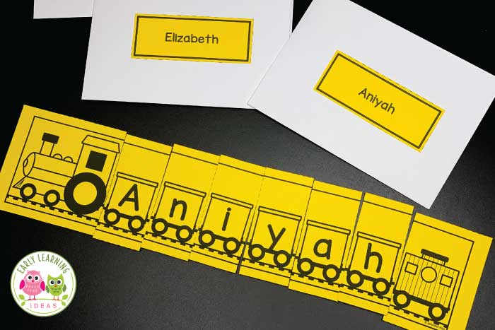 Are you looking for fun name activities for your literacy centers? These train name puzzles are perfect for back to school or your transportation theme unit and lesson plans in #preschool, #prek and #kindergarten. Teach name spelling, name recognition and letters while learning about land vehicles and trains. The editable printables can also be used for bulletin boards and decoration. Ideas also include fine motor activities & for spelling words. #nameactivities #transportationtheme