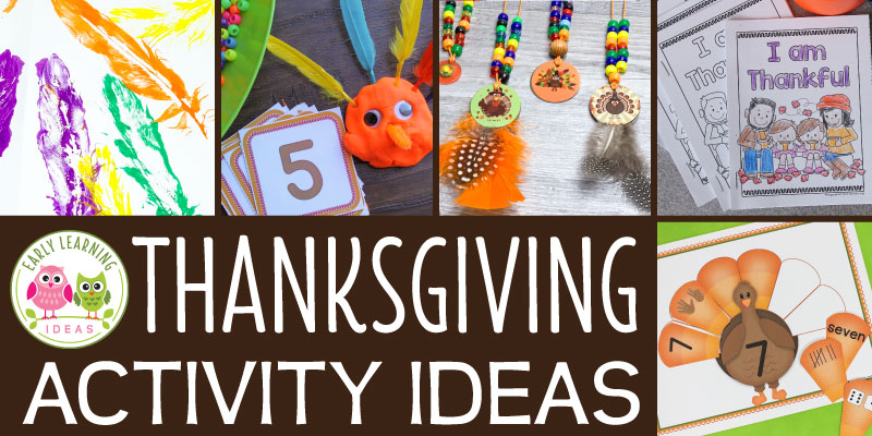 Check out this list of fun Thanksgiving activities for preschoolers. Your kids will love the hands-on learning activities, art ideas, book ideas, math, fine motor activities, sensory ideas, free printables, and more. Perfect for your Thanksgiving theme or turkey theme unit in #preschool and #prek classroom. #thanksgivingactivities #turkeytheme