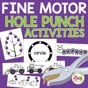 hole punch activities for preschoolers