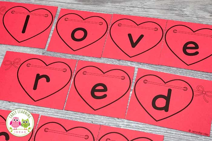 Use these simple Valentine's Day puzzles for name activities, literacy activities, & fine motor activities in your #preschool classroom. The heart puzzles are also a great gift idea! They are editable and are perfect for your #ValentinesDay theme or February theme units and lesson plans for preschoolers. Use them to practice sight words or thematic words. Kids can work on letter recognition, letter formation, letter sounds, beginning sounds....or use them on a bulletin board.