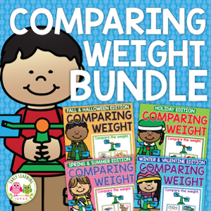 comparing weight activities with a balance scale for all seasons