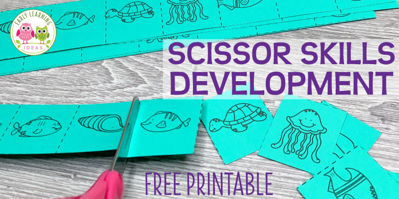 How To Use These Free Printables For Scissor Skills Development - Early  Learning Ideas