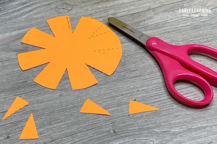 cutting practice with printable