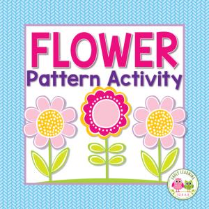 flower theme pattern activity for preschool kids